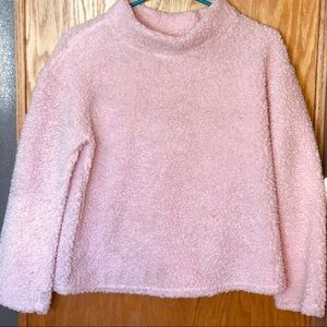 Size 14, XL girls pink popcorn type sweater.